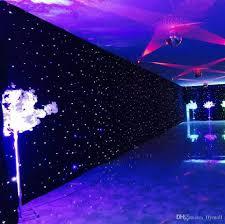 3mx6m led wedding party curtain led star cloth black stage backdrop led star cloth curtain light wedding decoration dmx512 stage lighting led star cloth