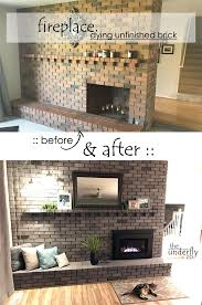 changing brick color without paint white wash or stain using concrete dye fireplace makeover