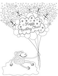 Personalized Happy Birthday Coloring Book H R Wallace Publishing