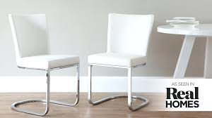 white cantilever dining chairs leather au form chair