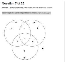A B C Venn Diagram According To The Venn Diagram Below What Is P A B C Http