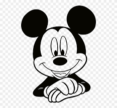 Micky Mouse Created On Illustrator Mickey Mouse Face Sketch