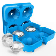 <b>3D Skull Silicone</b> Ice Cube Mold Tray Party Ice Cube Maker Whiskey ...