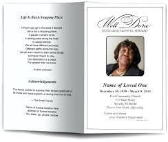 Classic Funeral Program Template Memorial Service Bulletin