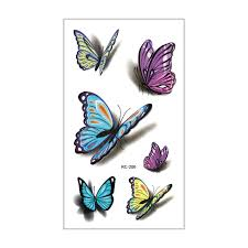 Dětské Tetování Tetovací Obtisky Motýli Op065