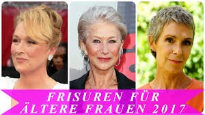Frisuren F R Ltere Frauen 2017 Youtube