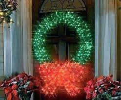 Outdoor Lighted Wreath Enchanting Outdoor Pre Lit Wreath Outdoor Lit Wreath Tremendous Lighted Wreaths