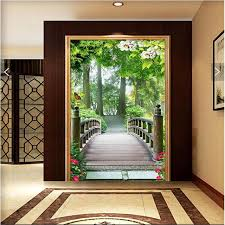 Small Picture Aliexpresscom Buy wall paper 3d art mural HD forest trail