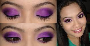 party season glittery purple y eye make up tutorial