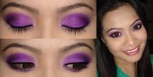 party season glittery purple smokey eye make up tutorial