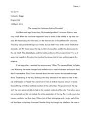 eng english santa barbara city page course hero 5 pages essay 2 the issues that hurricane katrina revealed