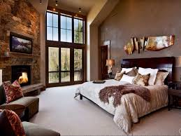 Master Bedroom Fireplace Eclectic Master Bedroom With Pendant Light High Ceiling Zillow