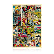 marvel comic book wall graphic on marvel comics mural wall graphic with marvel comic book wall graphic gallery one