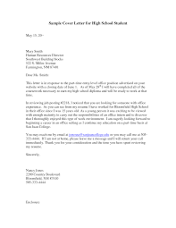cover letter high school sample cover letters for high school students guamreview com