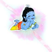 Buy or send Little Krishna TV Serial Designer Kids Rakhi as Wrist Band  Online