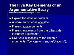 the wonders of persuading your readers in academic writing ppt  the five key elements of an argumentative essay adapted from oshima and hogue 2006