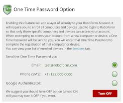 How To Enable One Time Password Otp Via Email Or Sms