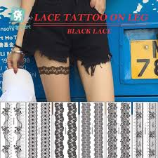 Senarai Harga New Arrival Sexy Black Lace Leg Chain Fake Flash