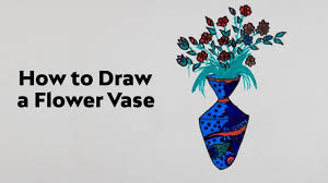 How To Draw A Vase With Designs How To Draw Flower Vase Step By Step Easy Flower Vases