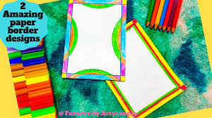 School Book Design Ideas 2 Stunning Paper Border Designs For School Projects Book Decoration Ideas A4 Paper Borders