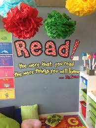 dr seuss clroom ideas dr seuss themed reading corner