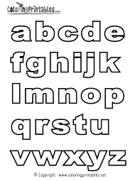 Alphabet Letter Coloring Pages Letters Free Printable 8001035