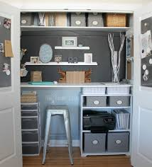 Home Office in a Closet - How to make the most of a little bit of space