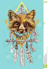 эскиз лисы иллюстрация вектора иллюстрации насчитывающей фауна