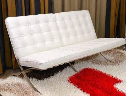 Sofa Chairs For Living Room Mies Van Der Rohe Sofa Chair Button Tufted Leather Barcelona Style