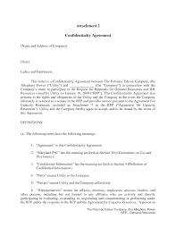 Letter Of Confidentiality Templates Franklinfire Co