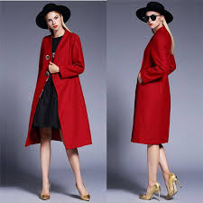red winter coats for women double ted ons wool blends women winter jackets polyester long outerwear womens winter coats fashion jackets wool coats