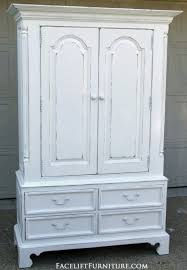 distressed white furniture. Plain White Distressed White Clothing Armoire Facelift Furniture DIY Blog Throughout S