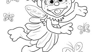 Sesame Street Birthday Printable Coloring Pages Abby Sheets Free
