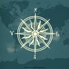 Map Of The World Background Compass On Map World Background Vector Free Download