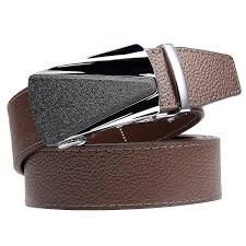 summer jun xiang men s genuine leather belt with automatic buckle black brown 35mm wide 1 3 8 inch great gift idea brown clemence style 4 ping