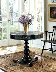 half round entryway table round wood foyer table image of small half round foyer table real