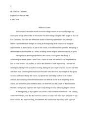 engl profile essay nowy running head a man an artist a  2 pages engl 1301 reflective letter