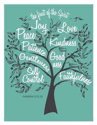 Fruit of the Spirit Digital DIY wall art graphics of Galatians 5:22  scripture quote