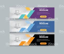 banner design template abstract web banner design template background stock vector art