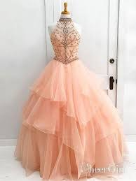 Prom Dress Color Chart Blush Pink Ball Gown Quinceanera Dress Long Prom Dresses It