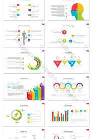 Visual Colorful Business Medical Report Ppt Chart Set