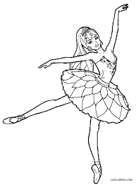 Ballet Dancer Coloring Pages Ballerina Coloring Pages Free Printable