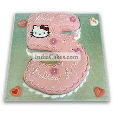 Order 5th Birthday Hello Kitty Cake 3 Kg Online Indiacakes