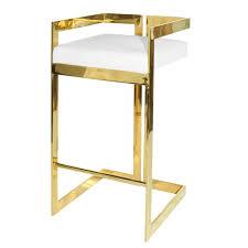 worlds away hearst brass bar stool  white  candelabra inc