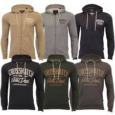 Details about Mens <b>Sweatshirt Crosshatch</b> Over The Head Hoodie ...