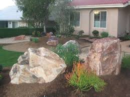Using boulders in landscape design
