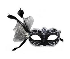 Decorating Masks For Masked Ball Ursula Black and Silver Decorated Masquerade Ball Mask 2