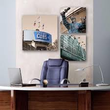 office canvas art. Chicago Cubs Office Set Of 3 - Canvas Wall Art HolyCowCanvas N