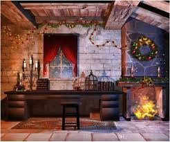 warm fireplace backdrop marvelous design indoor house garland photography backdrops
