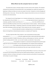 transition words for cause and effect essay click here for the what effects has the computer had on ourl lives pdf file